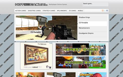 Screenshot of Home Page notsocasual.com - Online Multiplayer Games | Not So Casual - captured Sept. 23, 2014