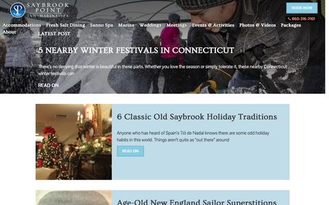 Screenshot of Blog saybrook.com - Saybrook Point Inn & Spa - Blog - captured Jan. 28, 2017