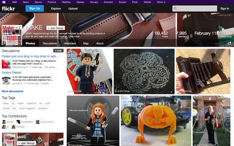 Screenshot of Flickr Page flickr.com - Flickr: The MAKE Pool - captured Oct. 29, 2014