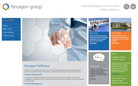 Screenshot of About Page hexagon.co.uk - About Us - Hexagon - captured April 20, 2016