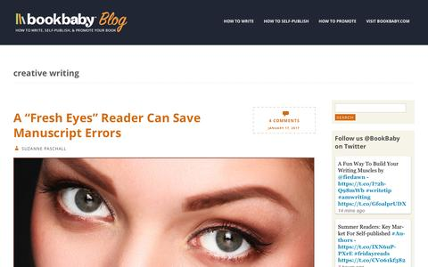 Screenshot of Blog bookbaby.com - creative writing | BookBaby Blog - captured Feb. 27, 2017