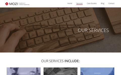 Screenshot of Services Page mozidev.com - Mozidev - captured Nov. 18, 2016