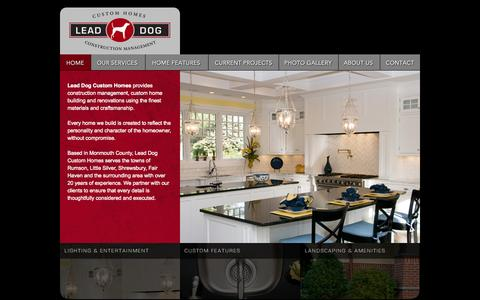 Screenshot of Home Page leaddogcustomhomes.com - Lead Dog Construction Management - Custom Homes - captured Oct. 2, 2014