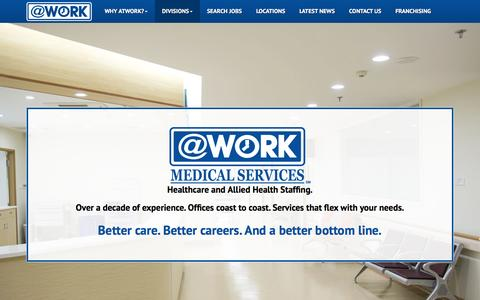 Screenshot of atwork.com - AtWork Medical - captured March 20, 2016