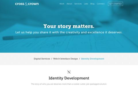 Screenshot of Services Page cacpro.com - Identity Development | Cross & Crown - captured Sept. 23, 2014