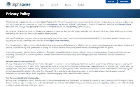 Privacy Policy - AlphaSense