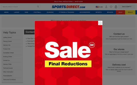 Screenshot of Contact Page sportsdirect.com - Contact Us | Sports Direct USA - captured Jan. 15, 2020