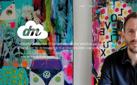Screenshot of Home Page digitalmads.dk - digitalmads.dk - indhold. links. trafik. - captured Feb. 9, 2016