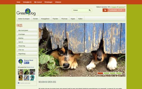 Screenshot of Home Page green-dog.nl - Green Dog - captured Oct. 3, 2014