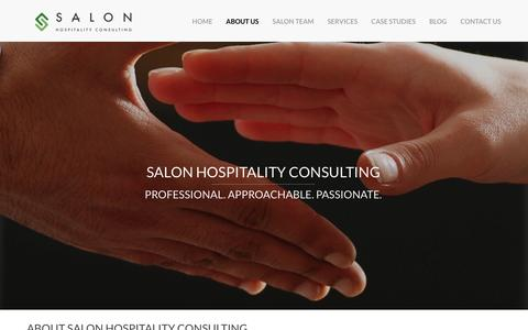 Screenshot of About Page salonconsulting.com - Salon Hospitality Consultancy - hotels, leisure and tourism - captured Nov. 2, 2014