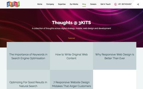 Screenshot of Blog 3kits.com - Blog - Web Design and Development, Mobile Apps, Seo in Hyderabad, India - captured Nov. 15, 2017