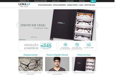 Screenshot of Blog lema21.com.br - Óculos de Grau | Design e Qualidade | Armação & Lentes | Lema21 -  Smart Eyewear - captured Sept. 16, 2014