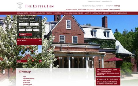 Screenshot of Site Map Page theexeterinn.com - Sitemap | The Exeter Inn | Exeter, New Hampshire - captured Oct. 26, 2014