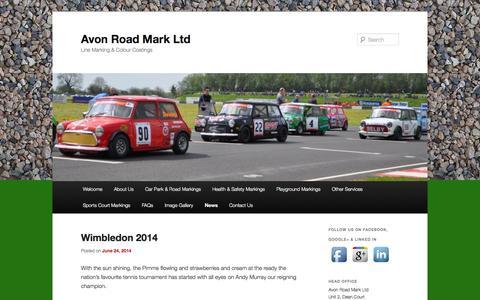 Screenshot of Press Page avonroadmark.co.uk - News | Avon Road Mark Ltd | Line Marking & Colour Coatings - captured Oct. 4, 2014