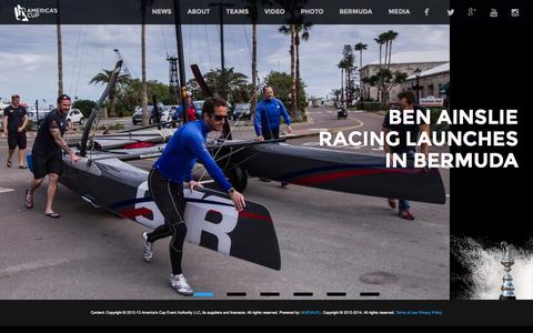 Screenshot of Home Page americascup.com - 35th America's Cup - captured Jan. 27, 2015