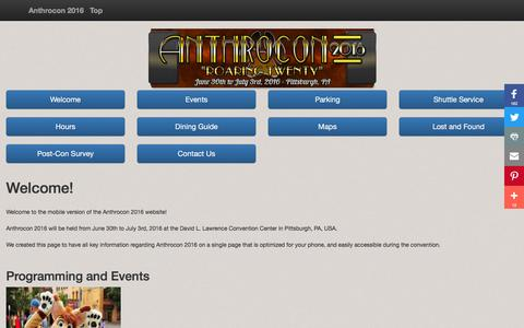 Screenshot of Maps & Directions Page anthrocon.org - Anthrocon 2016 Mobile Website - captured Nov. 21, 2016