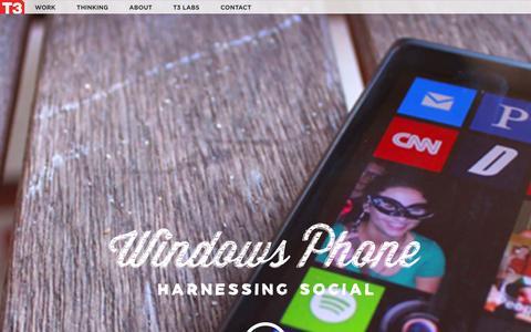 Screenshot of Home Page t-3.com - Home | T3 - captured Sept. 25, 2014
