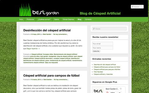 Screenshot of Blog bestgarden.es - Blog de Césped Artificial | - captured Sept. 30, 2014