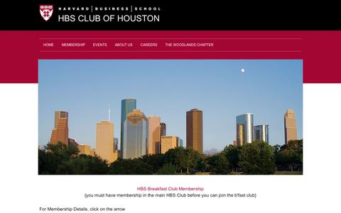 Screenshot of Signup Page hbsclubhouston.com - Contact Us... - captured May 22, 2016