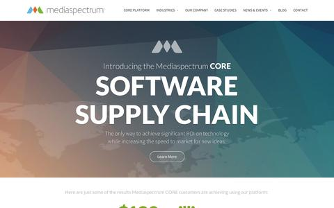 Screenshot of Home Page About Page mediaspectrum.net - Mediaspectrum - Cloud-based Enterprise Systems - captured Sept. 16, 2014