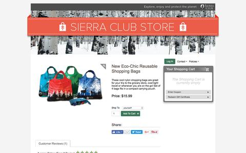 Screenshot of sierraclub.org - New Eco-Chic Reusable Shopping Bags – Sierra Club Online Store - captured Aug. 18, 2016