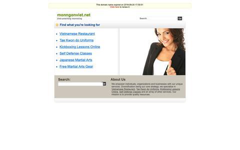 Screenshot of Home Page monngonviet.net - Monngonviet.net - captured Oct. 4, 2018
