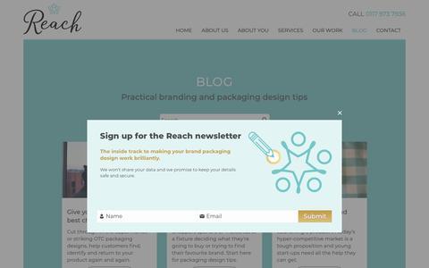 Screenshot of Blog reachbrands.co.uk - Blog - Reach - captured Oct. 18, 2018
