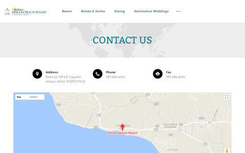 Screenshot of Contact Page rinconbeach.com - Contact Us | Rincon Beach Resort - captured Nov. 16, 2017