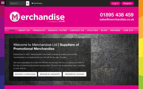 Screenshot of Home Page merchandise.co.uk - Promotional Products and Promo Gifts | Merchandise Ltd - Merchandise Ltd - captured Nov. 21, 2017