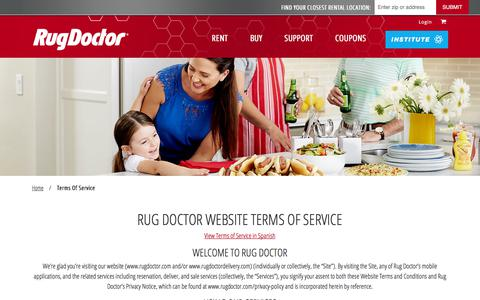 Screenshot of Terms Page rugdoctor.com - Terms of Service | Rug Doctor - captured June 21, 2017