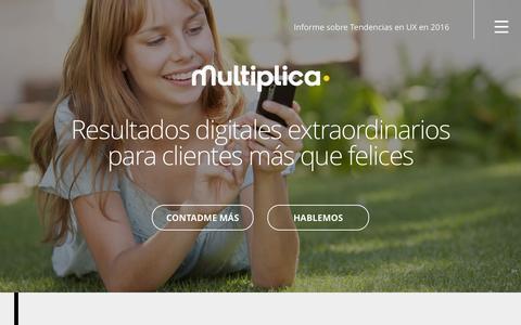 Screenshot of Home Page multiplica.com - Consultoría Estratégica | Multiplica - captured Jan. 11, 2016