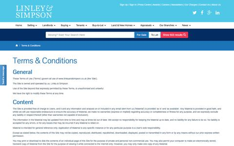 Screenshot of Terms Page linleyandsimpson.co.uk - Estate & Letting Agents - Property Management | Linley & Simpson, Leeds, Yorkshire » Linley & Simpson - captured July 15, 2016
