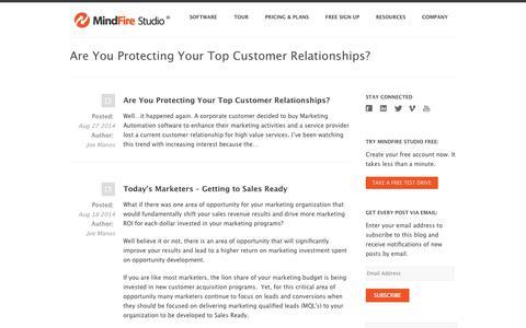 Screenshot of Blog mindfirestudio.com - MindFire Studio Blog | More Quality Leads with Marketing Automation - captured Oct. 7, 2014