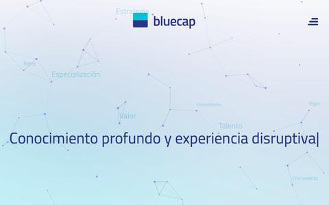 Screenshot of Home Page bluecap.es - Bluecap Web oficial - captured Oct. 10, 2017