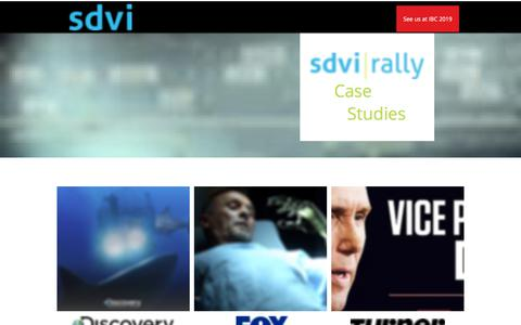 Screenshot of Case Studies Page sdvi.com - Case-studies | SDVI Corporation Media Supply Chain Management - captured Aug. 12, 2019