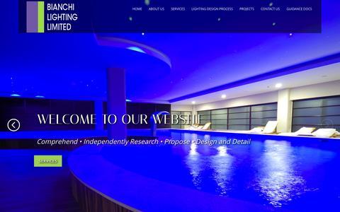 Screenshot of Home Page bianchilighting.co.uk - BIANCHI LIGHTING LIMITED - captured Jan. 24, 2015