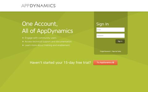 Screenshot of Login Page appdynamics.com - AppDynamics | Sign In - captured Sept. 13, 2014