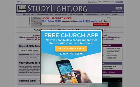 Screenshot of Home Page studylight.org - StudyLight.org: Search, Read and Study with our Tools - captured Feb. 18, 2016