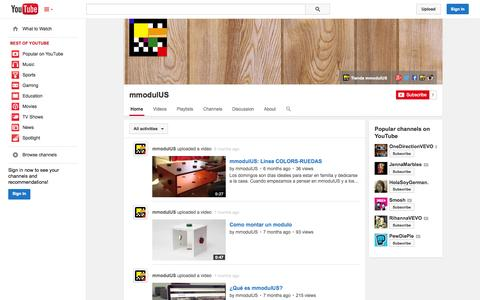 Screenshot of YouTube Page youtube.com - mmodulUS  - YouTube - captured Oct. 26, 2014