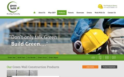 Screenshot of Products Page greenbuildproducts.com - GWC Series | Green Build - captured May 5, 2017