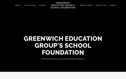 Screenshot of Home Page gegfoundation.org - Greenwich Education Group's School Foundation - captured Sept. 30, 2018
