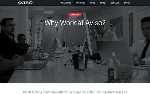 Screenshot of Jobs Page aviso.com - Aviso - Total Revenue Intelligence - Careers - captured Sept. 12, 2014