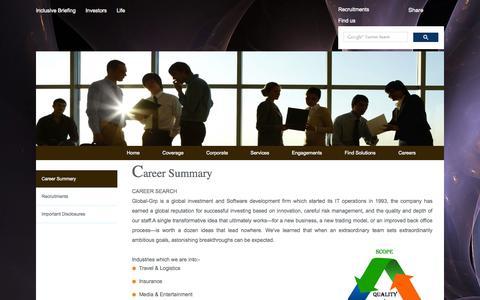 Screenshot of Jobs Page global-grp.com - Global Grp - captured Oct. 31, 2014