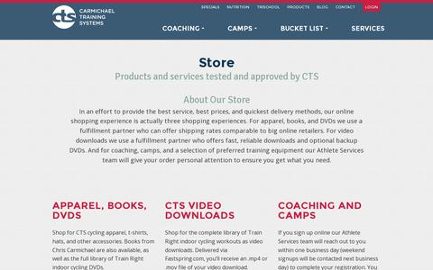 Screenshot of Products Page trainright.com - Products - CTS - captured July 19, 2014