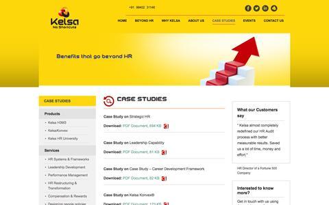 Screenshot of Case Studies Page kelsasolutions.com - Case Studies | Kelsa Solutions - HR Systems and Processes, Talent Management Framework | Kelsa Solutions - captured Sept. 30, 2014