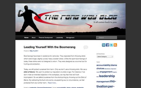 Screenshot of Blog boomerangconcepts.com - The Rang Way Blog | For those seeking the best in themselves - captured Sept. 30, 2014