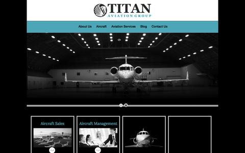 Screenshot of Home Page majesticjet.com - Titan Aviation Group LLC. - - captured Oct. 10, 2014