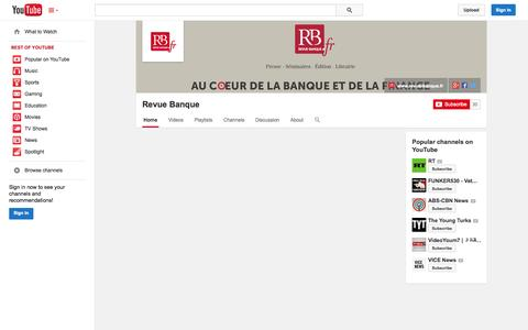 Screenshot of YouTube Page youtube.com - Revue Banque  - YouTube - captured Oct. 30, 2014