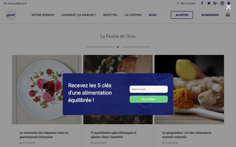 Screenshot of Blog yumi.fr - La Feuille de Chou - Le Blog de Yumi - captured March 14, 2018