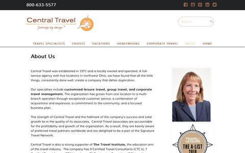 Screenshot of About Page centraltravel.com - Agency Information  -  Central Travel - captured Nov. 4, 2018